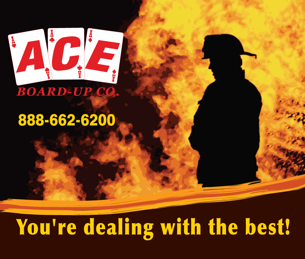 Trade Show Banner for the ACE Board-Up.Co