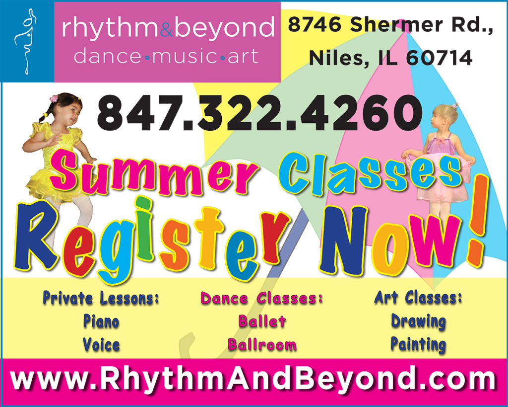 Advertising for the Rhythm & Beyond School of dance, music and art