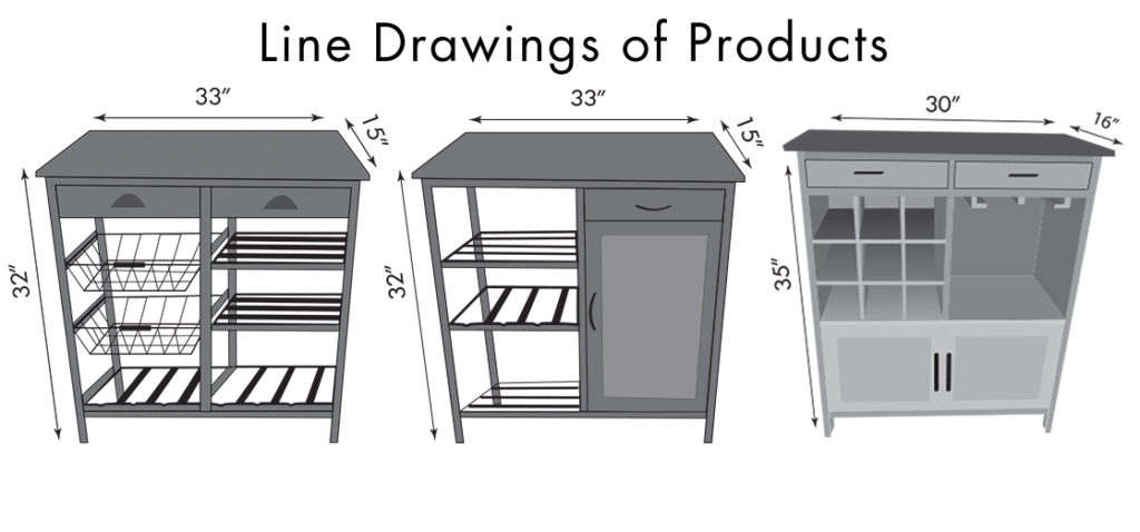 Line Drawing for Packaging Design. JAM Marketing Inc.