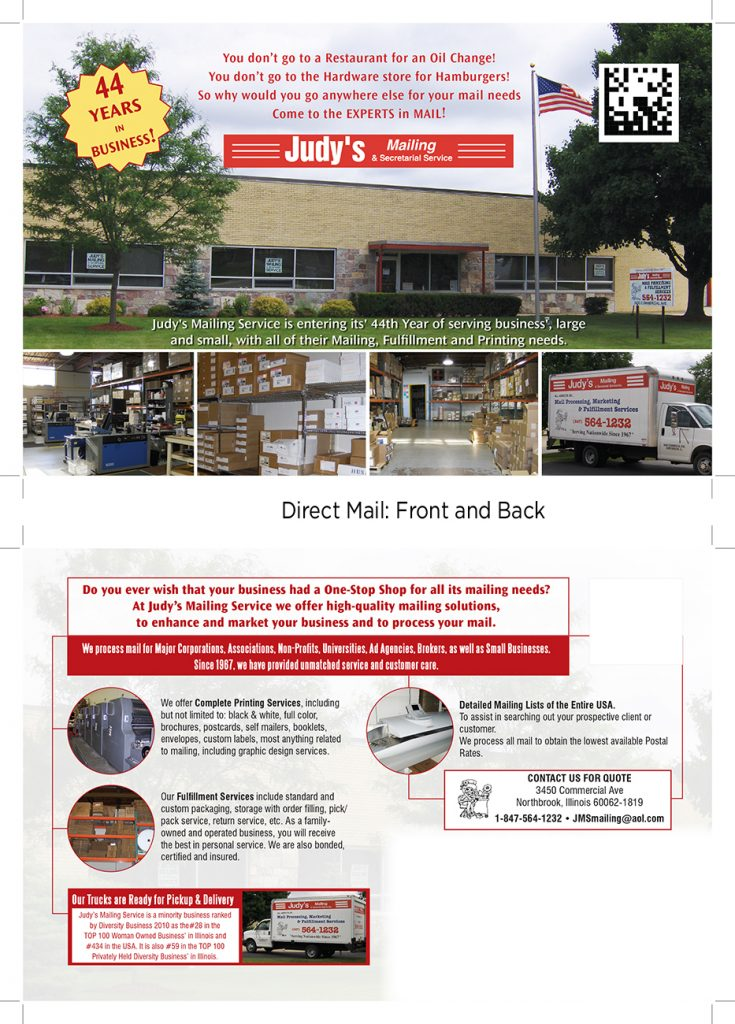 Direct Mail Design for JMS Mailing Services