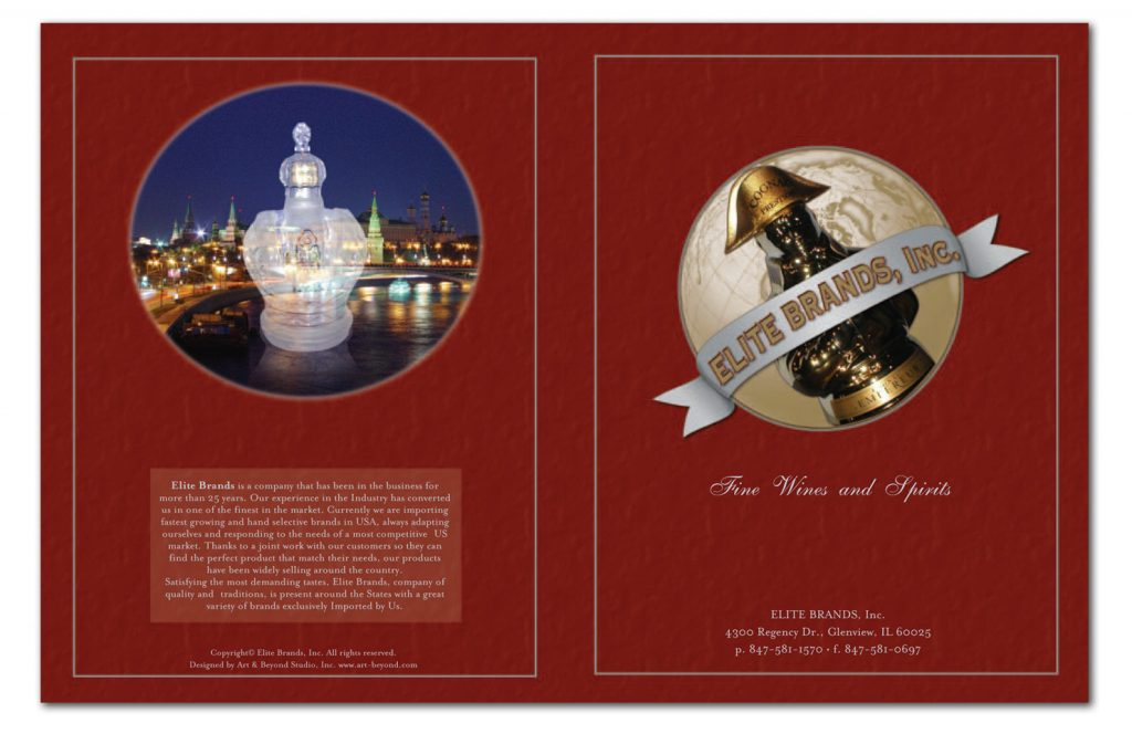Elite Brands, Inc. Catalog Design and Layout including logo design.