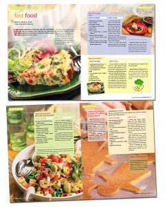 Family Energy Magazine, Food section design and layout