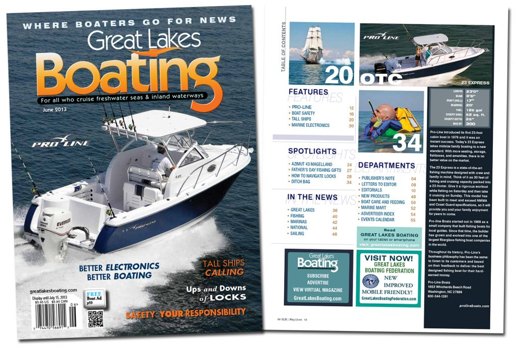 Great Lakes Boating Magazine. Design and Layout.