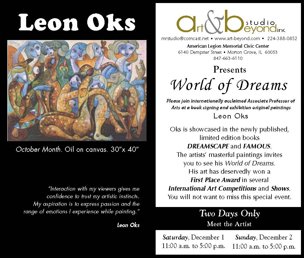 Leon Oks Art Show Flyer.