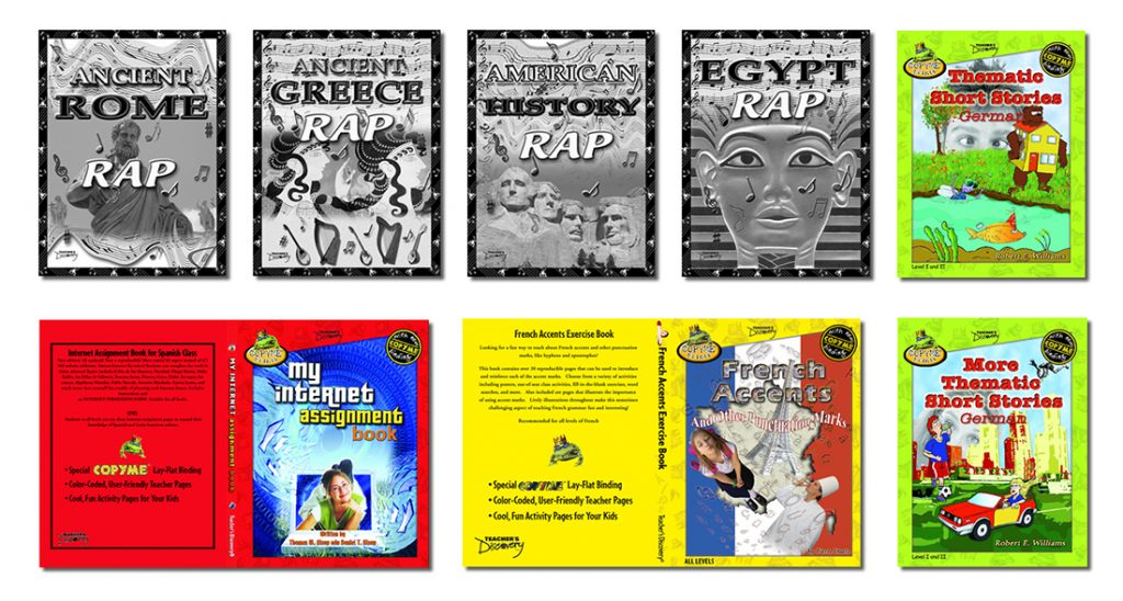 Cover Design projects for the Teacher's Discovery, educational publisher.