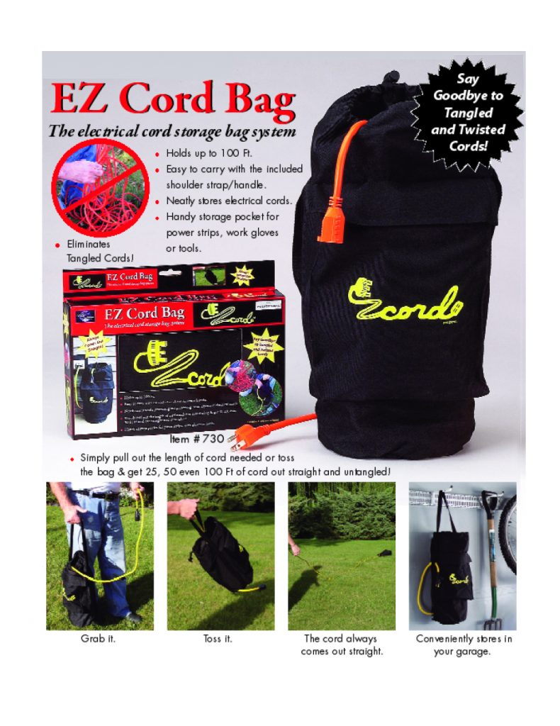 EZ Cord Bag Packaging Box Design including Logo Design for AXIS International Ltd.