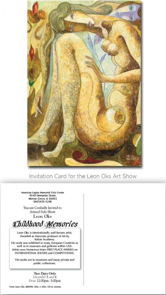Invitation Card. Leon Oks Art Show