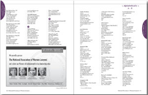 NAWL Directory interior pages