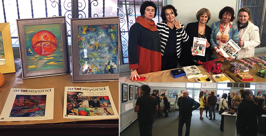 Art & Beyond Magazine at the EWW Show 2019. West Hollywood, CA with Dallery Director Lark Pilinsky and participating artists.